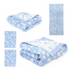 Parure de bain 5 pièces 100% coton 520 g/m2 FACILE Bleu
