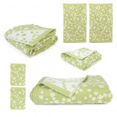 Parure de bain 7 pièces 100% coton 520 g/m2 FACILE Vert