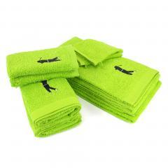 Parure de bain 8 pièces 100% coton 550 g/m2 PURE GOLF Vert Pistache