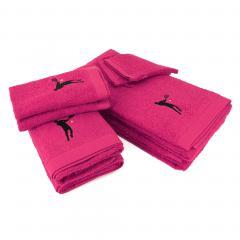 Parure de bain 8 pièces 100% coton 550 g/m2 PURE TENNIS Rose Fuchsia