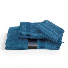 Parure de bain 5 pièces ROYAL CRESENT Bleu Céleste 650 g/m2