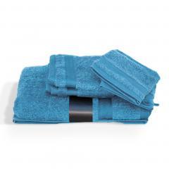 Parure de bain 5 pièces ROYAL CRESENT Bleu Ciel  650 g/m2