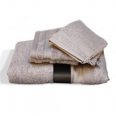 Parure de bain 5 pièces ROYAL CRESENT Gris Craie 650 g/m2
