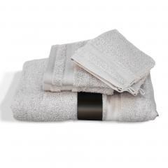 Parure de bain 5 pièces ROYAL CRESENT Gris Platine 650 g/m2