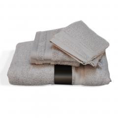 Parure de bain 5 pièces ROYAL CRESENT Gris Souris 650 g/m2