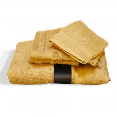 Parure de bain 5 pièces ROYAL CRESENT Jaune Quartz 650 g/m2