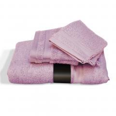 Parure de bain 5 pièces ROYAL CRESENT Rose Lavande 650 g/m2