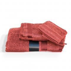 Parure de bain 5 pièces ROYAL CRESENT Rouge Terre Cuite 650 g/m2