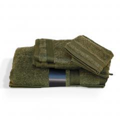 Parure de bain 5 pièces ROYAL CRESENT Vert Bouteille 650 g/m2