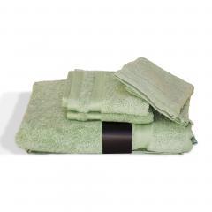 Parure de bain 5 pièces ROYAL CRESENT Vert Céladon 650 g/m2