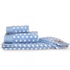 Parure de bain 6 pièces DOMINO Bleu 550 g/m2