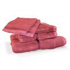 Parure de bain 6 pièces JULIET Rose 520 g/m2