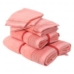 Parure de bain 6 pièces JULIET Rose bonbon 520 g/m2
