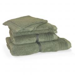 Parure de bain 6 pièces JULIET Vert 520 g/m2