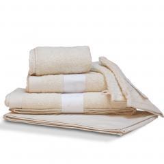Parure de bain 6 pièces PURE Ivoire 550 g/m2