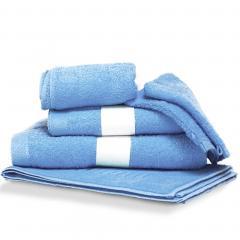 Parure de bain 6 pièces PURE Bleu Ciel550 g/m2
