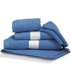 Parure de bain 6 pièces PURE Bleu Mer550 g/m2