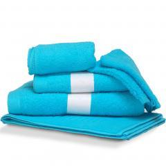 Parure de bain 6 pièces PURE Bleu Océan 550 g/m2