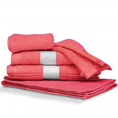 Parure de bain 6 pièces PURE Fraise550 g/m2