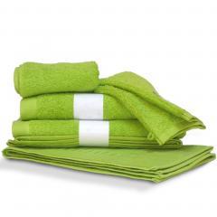 Parure de bain 6 pièces PURE Pistache550 g/m2