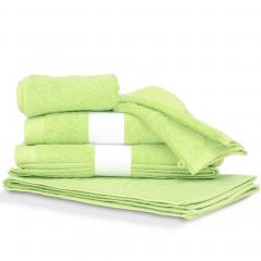 Parure de bain 6 pièces PURE Vert Pomme 550 g/m2