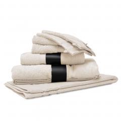 Parure de bain 7 pièces ROYAL CRESENT Blanc Crème 650 g/m2