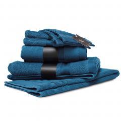 Parure de bain 7 pièces ROYAL CRESENT Bleu Céleste 650 g/m2
