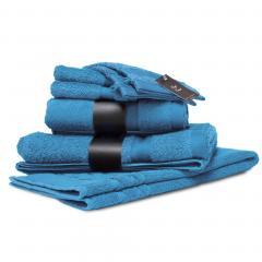 Parure de bain 7 pièces ROYAL CRESENT Bleu Ciel  650 g/m2