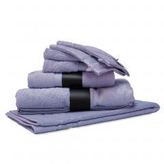 Parure de bain 7 pièces ROYAL CRESENT Bleu Lavande 650 g/m2
