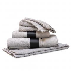 Parure de bain 7 pièces ROYAL CRESENT Gris Platine 650 g/m2