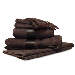 Parure de bain 7 pièces ROYAL CRESENT Chocolat 650 g/m2