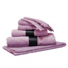 Parure de bain 7 pièces ROYAL CRESENT Rose Lavande 650 g/m2