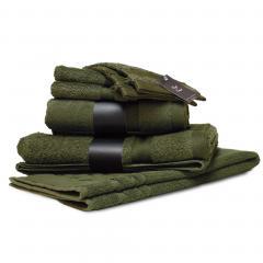 Parure de bain 7 pièces ROYAL CRESENT Vert Bouteille 650 g/m2