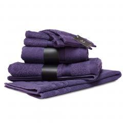 Parure de bain 7 pièces ROYAL CRESENT Prune 650 g/m2