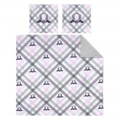 Parure de lit 260x240 cm 100% cotonJUBILE Blanc 3 pièces