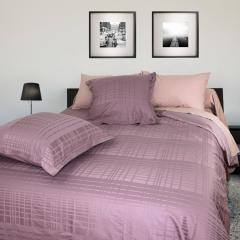 Parure de lit 300x240 cm Satin de coton PIGALLE Violet