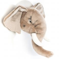 Peluche trophée Éléphant George collection Savane
