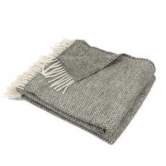 Plaid 130x170 cm 40% alpaga 60% mérinos laine 360 g/m2 ANDINE Gris Graphite
