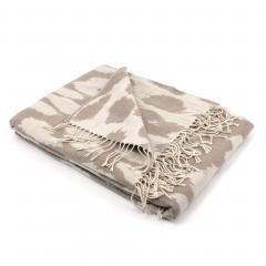 Plaid 130x170 cm laine mérinos Woolmark 380 g/m2 KENYA Beige
