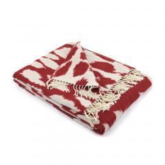Plaid 130x170 cm laine mérinos Woolmark 380 g/m2 KENYA Rouge