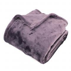 Plaid polaire 150x200 cm microvelours 100% Polyester 320 g/m2 VELVET Violet Prune