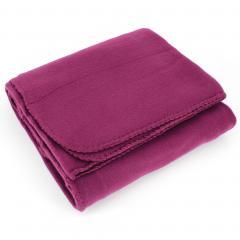 Plaid polaire Uno violet Prune 130x170cm