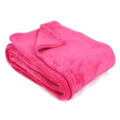 Plaid polaire 130x170 cm Microfibre 280 g/m2 APOLLO Rose Fuchsia