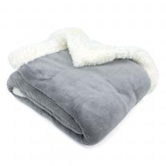 Plaid hiver 130x150 cm polyester 490g/m² ARTHUR Gris Argent