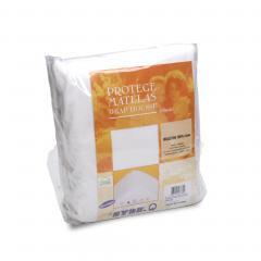 Protège matelas 120x190 cm ACHUA  - Molleton 100% coton 400 g/m2,  bonnet 30cm