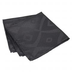 Lot de 3 serviettes de table 45x45 cm Jacquard 100% polyester BRUNCH anthracite
