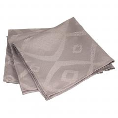 Lot de 3 serviettes de table 45x45 cm Jacquard 100% polyester BRUNCH taupe