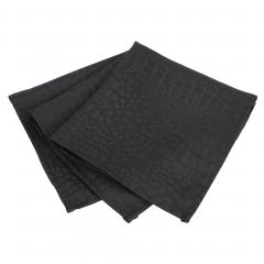 Lot de 3 serviettes de table 45x45 cm Jacquard 100% polyester LOUNGE noir
