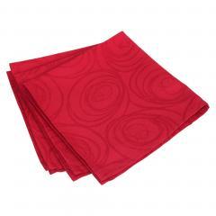 Lot de 3 serviettes de table 45x45 cm Jacquard 100% coton SPIRALE rouge