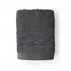 Serviette de toilette 50x100 cm 100% coton 550 g/m2 PURE CADENA Gris